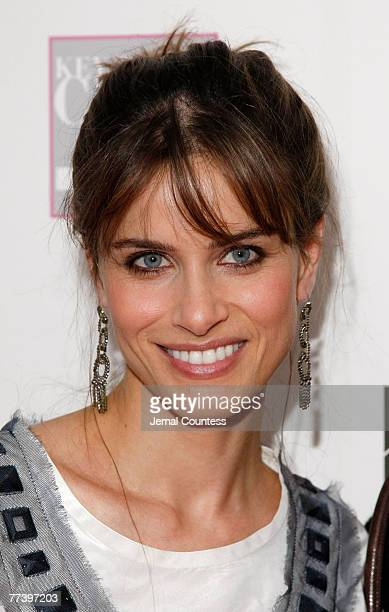 """Actress Amanda Peet on the Red carpet at the """"VIVA LA CURE"""" Benefiting for EIF's Women's Cancer Research Fund hosted by SAKS Fifth Avenue at The Sea..."""