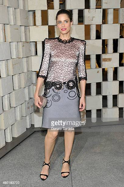 Actress Amanda Peet wearing Bottega Veneta attends the Hammer Museum Gala in Garden sponsored by Bottega Veneta at Hammer Museum on October 10 2015...