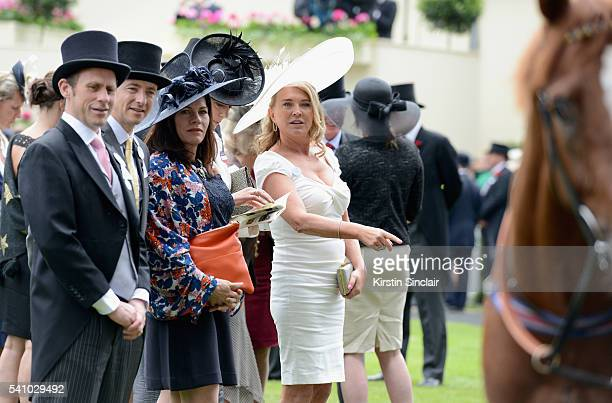 Actress Amanda Redman attends day 5 of Royal Ascot at Ascot Racecourse on June 18 2016 in Ascot England