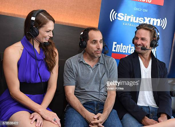 Actress Amanda Righetti and actors Peter Jacobson and Josh Holloway attend SiriusXM's Entertainment Weekly Radio Channel Broadcasts From ComicCon...