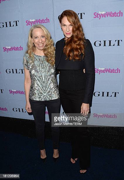 Actress Amanda Righetti and Editor at People StyleWatch Susan Kaufman attend People StyleWatch Denim Awards presented by GILT at Palihouse on...