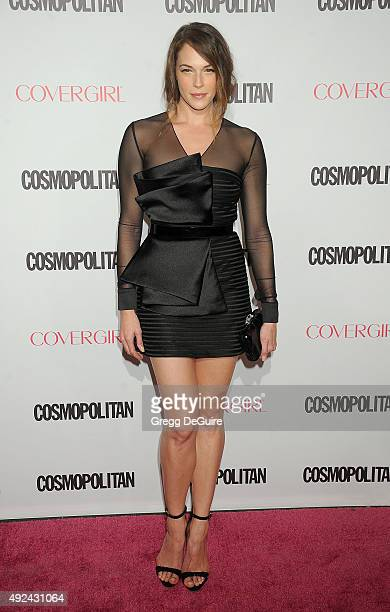 Actress Amanda Righetti arrives at Cosmopolitan Magazine's 50th Birthday Celebration at Ysabel on October 12 2015 in West Hollywood California