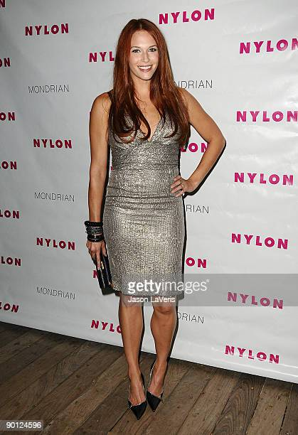Actress Amanda Righetti arrives at Nylon Magazine's TV Issue launch party at SkyBar on August 24 2009 in West Hollywood California