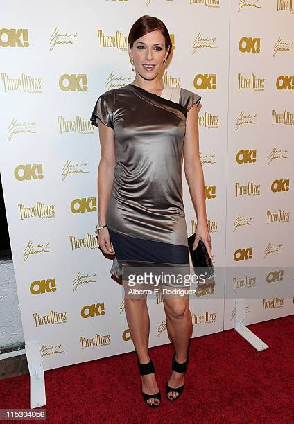 Actress Amanda Righetti arrives at OK Magazine's annual preOscar bash on March 5 2010 in Los Angeles California