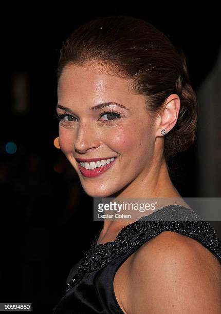 Actress Amanda Righetti arrives at the 13th Annual Entertainment Tonight and People Magazine Emmys After Party at the Vibiana on September 20, 2009...