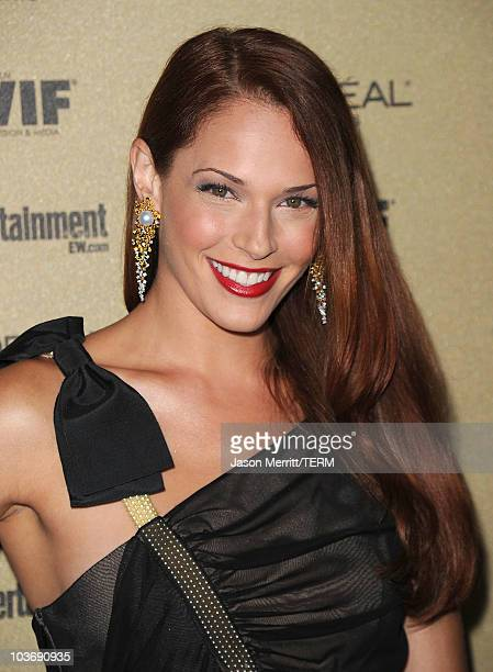 Actress Amanda Righetti arrives at the 2010 Entertainment Weekly and Women In Film PreEmmy party sponsored by L'Oreal Paris at Restaurant at The...