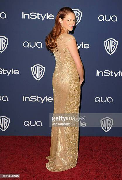 Actress Amanda Righetti arrives at the 2014 InStyle And Warner Bros 71st Annual Golden Globe Awards PostParty on January 12 2014 in Beverly Hills...