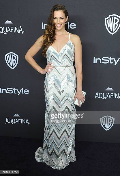 Actress Amanda Righetti arrives at the 2016 InStyle And Warner Bros 73rd Annual Golden Globe Awards PostParty at The Beverly Hilton Hotel on January...