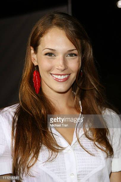 Actress Amanda Righetti arrives at the '300' DVD Release Party at Petco Stadium on July 27 2007 in San Diego California