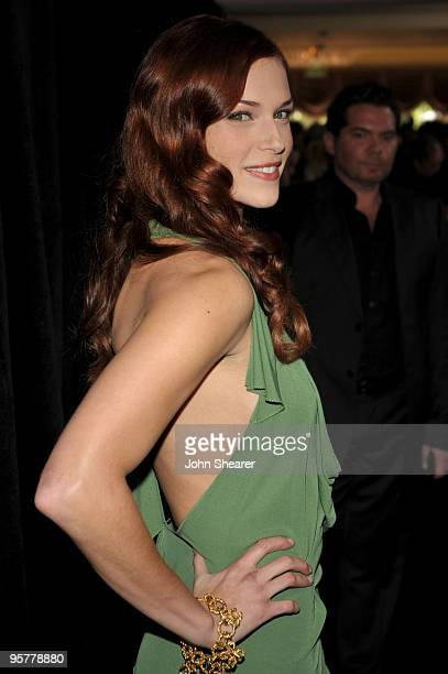 Actress Amanda Righetti arrives at the 9th Annual Awards Season Diamond Fashion Show Preview hosted by the Diamond Information Center and InStyle at...