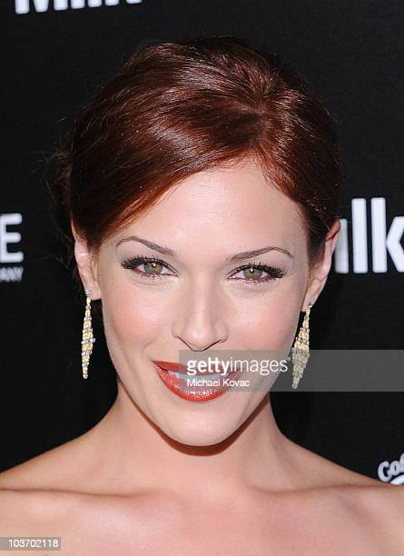 Actress Amanda Righetti arrives at The Art of Elysium's 2nd Annual Genesis Awards at Milk Studios on August 28, 2010 in Hollywood, California.