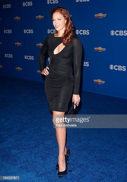 Actress Amanda Righetti arrives at the CBS Fall Season premiere party on September 16 2010 in Los Angeles California
