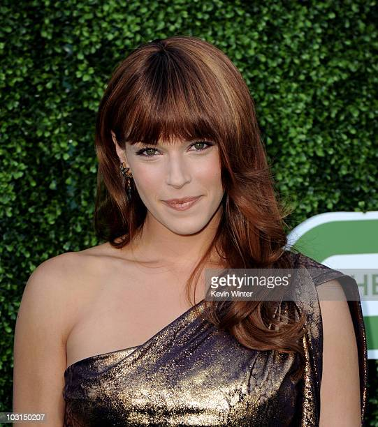 Actress Amanda Righetti arrives at the CBS Showtime and CW TCA Summer Party at the Beverly Hilton Hotel on July 28 2010 in Beverly Hills California