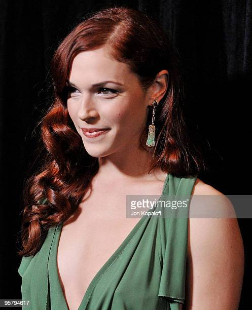 Actress Amanda Righetti arrives at the DIC/InStyle's 9th Annual Awards Season Diamond Fashion Show Preview at Beverly Hills Hotel on January 14 2010...