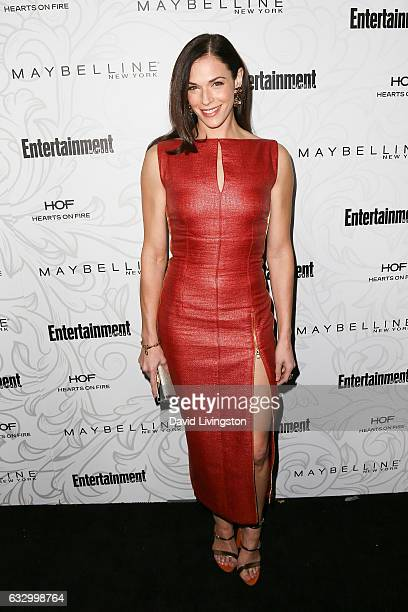 Actress Amanda Righetti arrives at the Entertainment Weekly celebration honoring nominees for The Screen Actors Guild Awards at the Chateau Marmont...