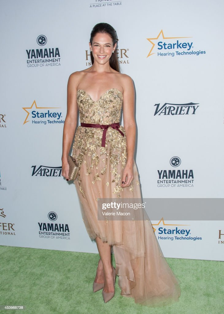 Actress Amanda Righetti arrives at the Heifer International's 3rd Annual 'Beyond Hunger: A Place At The Table' Gala at Montage Beverly Hills on August 22, 2014 in Beverly Hills, California.