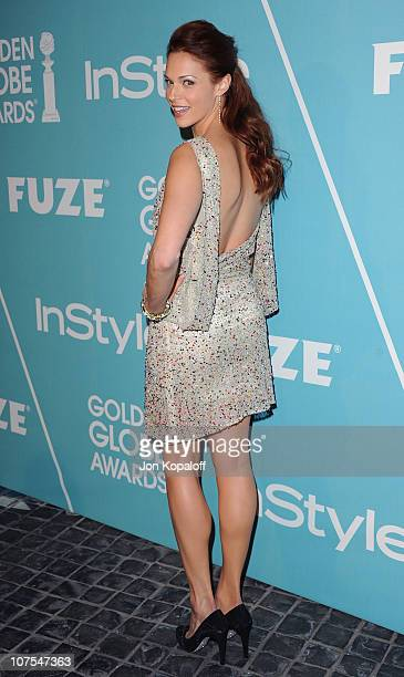 Actress Amanda Righetti arrives at the HFPA/InStyle Party Announcing Miss Golden Globe 2011 at Cecconi's Restaurant on December 9 2010 in Los Angeles...