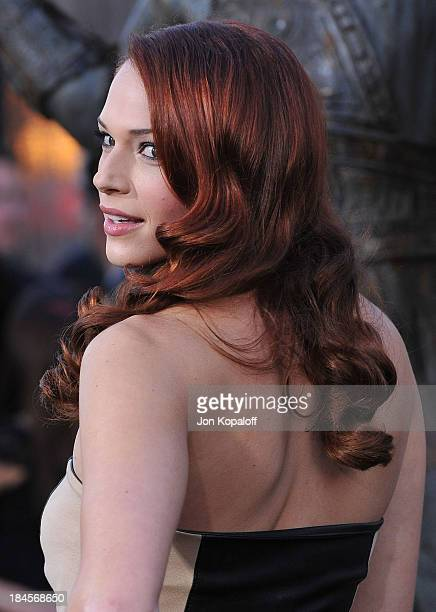 Actress Amanda Righetti arrives at the Los Angeles Premiere 'Clash Of The Titans' at Grauman's Chinese Theatre on March 31 2010 in Hollywood...
