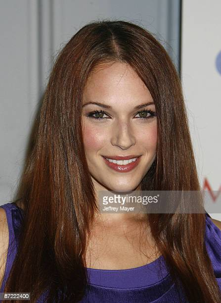 Actress Amanda Righetti arrives at the Maxim's 10th Annual Hot 100 Celebration at The Barker Hanger on May 13 2009 in Santa Monica California