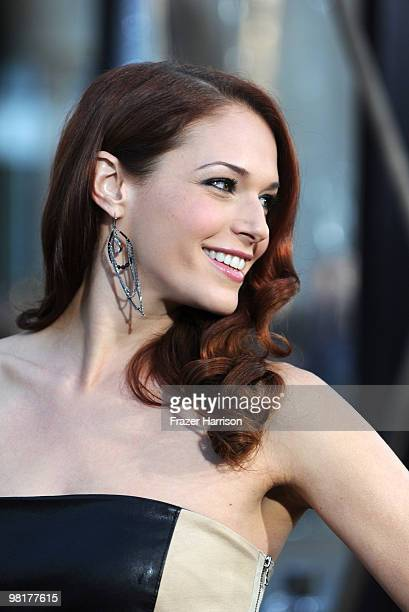 Actress Amanda Righetti arrives at the premiere of Warner Bros 'Clash Of The Titans' held at Grauman's Chinese Theatre on March 31 2010 in Los...