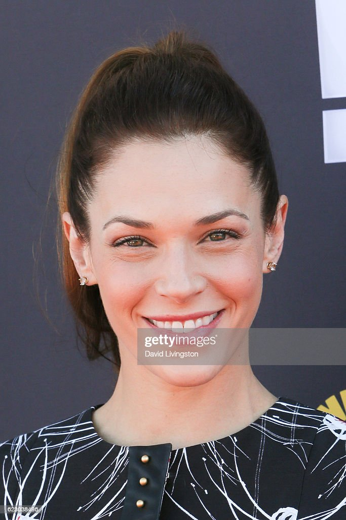 Actress Amanda Righetti arrives at the P.S. ARTS' Express Yourself 2016 at Barker Hangar on November 13, 2016 in Santa Monica, California.