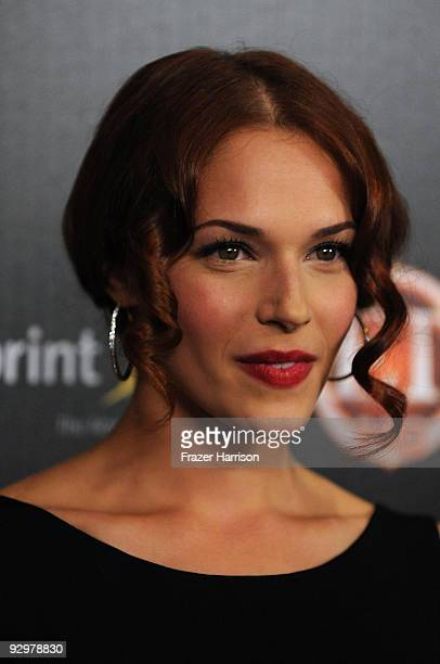 Actress Amanda Righetti arrives at TV GUIDE Magazine's Hot List Party at SLS Hotel ÒThe BazaarÓ on November 10 2009 in Los Angeles California