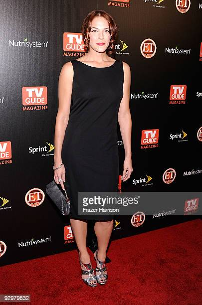 Actress Amanda Righetti arrives at TV GUIDE Magazine's Hot List Party at SLS Hotel The Bazaar on November 10 2009 in Los Angeles California