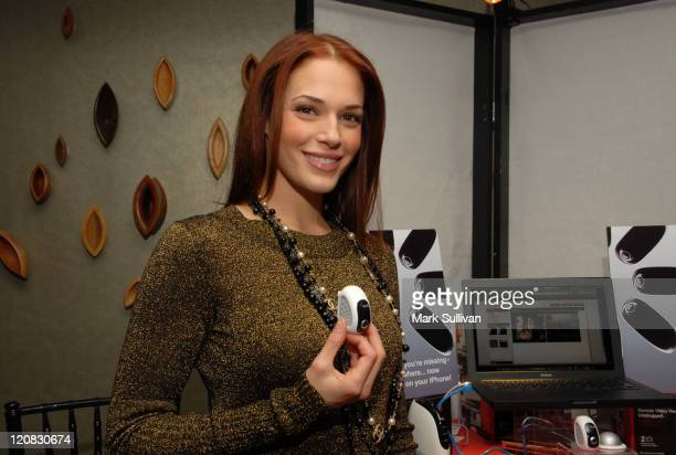 Actress Amanda Righetti attends Access Hollywood 'Stuff You Must' Lounge Produced by On 3 Productions Celebrating the Golden Globes Day 2 at Sofitel...