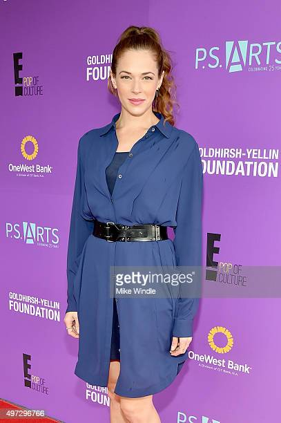 Actress Amanda Righetti attends Express Yourself 2015 to benefit PS ARTS providing arts education to 25000 public school students each week at Barker...