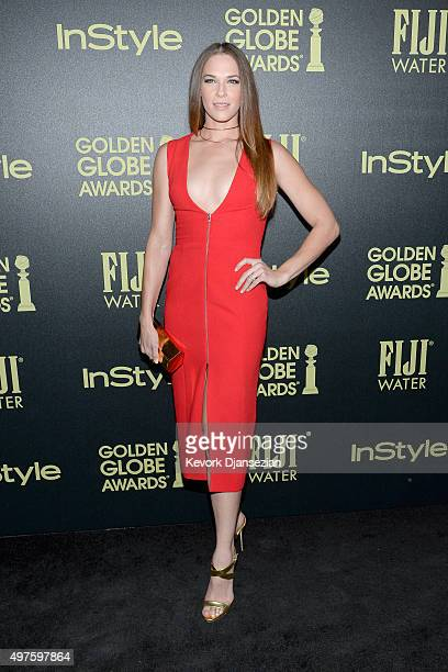 Actress Amanda Righetti attends Hollywood Foreign Press Association and InStyle Celebration of The 2016 Golden Globe Award Season at Ysabel on...