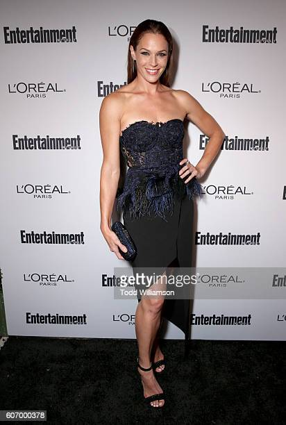 Actress Amanda Righetti attends the 2016 Entertainment Weekly PreEmmy party at Nightingale Plaza on September 16 2016 in Los Angeles California