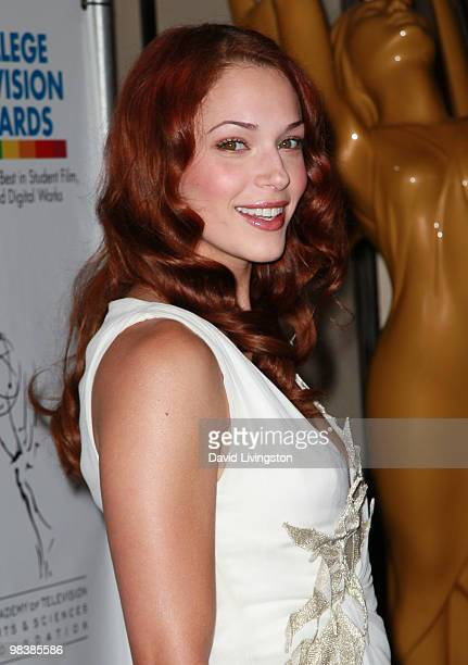 Actress Amanda Righetti attends the 31st Annual College Television Awards at Renaissance Hollywood Hotel on April 10 2010 in Hollywood California
