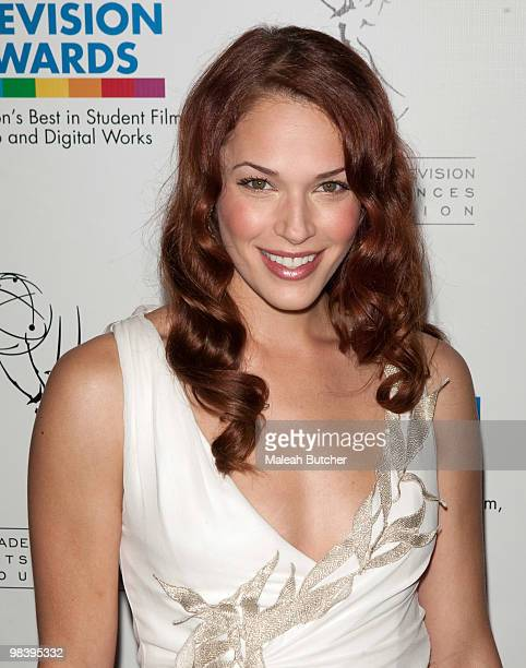 Actress Amanda Righetti attends the 31st annual college television awards at the Renaissance Hollywood Hotel on April 10 2010 in Hollywood California