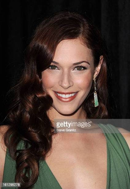 Actress Amanda Righetti attends The 9th Annual Awards Season Diamond Fashion Show Preview atBeverly Hills Hotel on January 14 2010 in Beverly Hills...