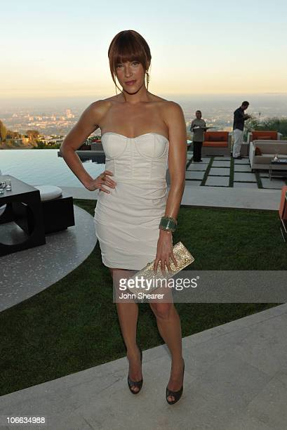 Actress Amanda Righetti attends the 9th annual InStyle summer soiree hosted by InStyle editor Ariel Foxman and the West Coast Editors of InStyle held...