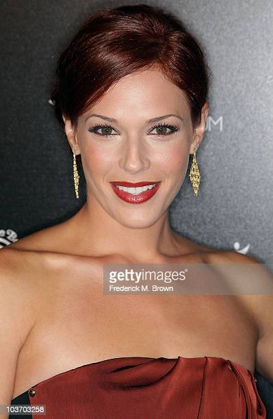 Actress Amanda Righetti attends the Art of Elysium's second annual Genesis event at the Milk Studios on August 28 2010 in Hollywood California