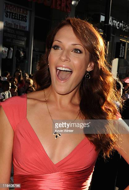 Actress Amanda Righetti attends the 'Captain America The First Avenger' Los Angeles Premiere at the El Capitan Theatre on July 19 2011 in Hollywood...