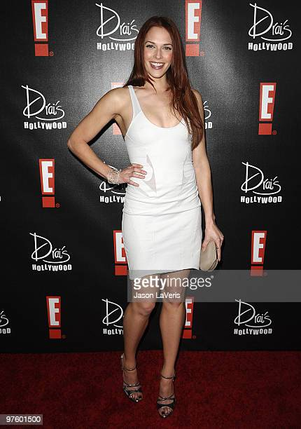Actress Amanda Righetti attends the E Oscar viewing and after party at Drai's Hollywood on March 7 2010 in Hollywood California