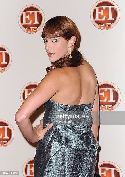Actress Amanda Righetti attends the Entertainment Tonight's 62nd Annual EMMY After Party at Vibiana on August 29 2010 in Los Angeles California