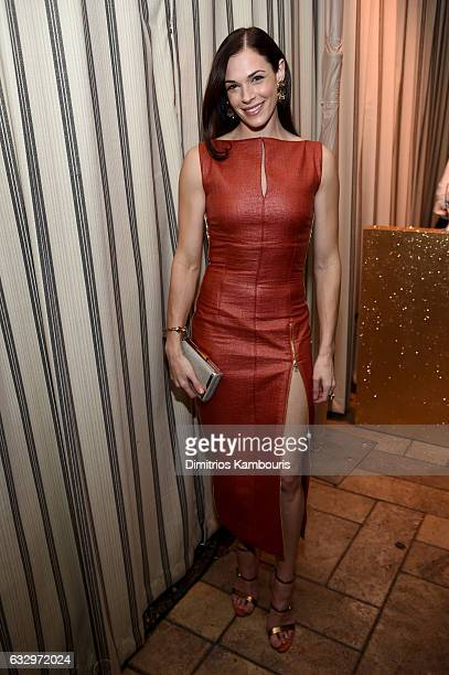 Actress Amanda Righetti attends the Entertainment Weekly Celebration of SAG Award Nominees sponsored by Maybelline New York at Chateau Marmont on...