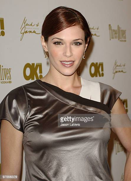 Actress Amanda Righetti attends the OK Magazine preOscar party at Beso on March 5 2010 in Hollywood California