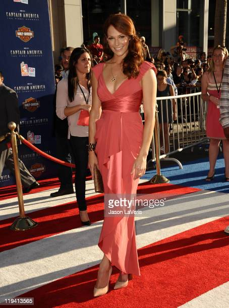 Actress Amanda Righetti attends the premiere of Captain America The First Avenger at the El Capitan Theatre on July 19 2011 in Hollywood California