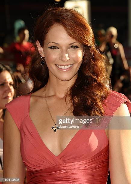 Actress Amanda Righetti attends the premiere of 'Captain America The First Avenger' at the El Capitan Theatre on July 19 2011 in Hollywood California