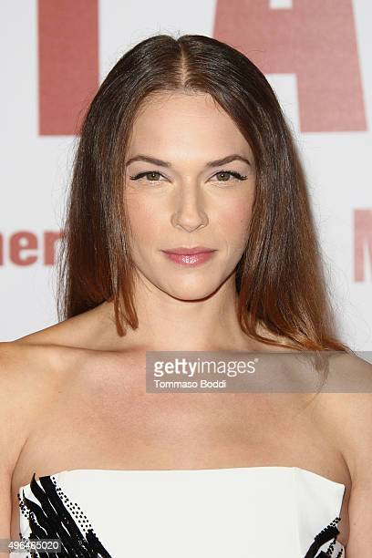 Actress Amanda Righetti attends the premiere of Clarius Entertainment's 'My All American' held at The Grove on November 9 2015 in Los Angeles...