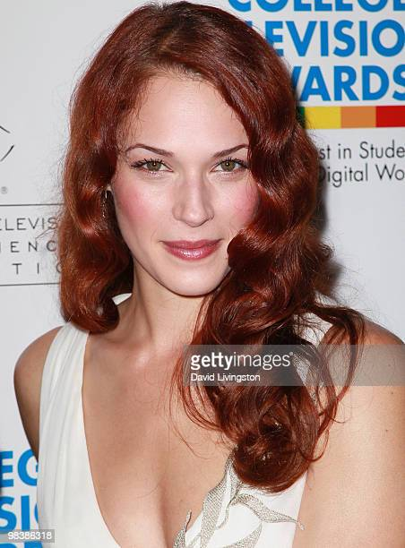 Actress Amanda Righetti attends the press room during the 31st Annual College Television Awards at Renaissance Hollywood Hotel on April 10 2010 in...