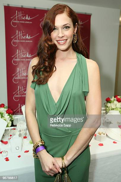 Actress Amanda Righetti poses at the Kari Feinstein Golden Globes Style Lounge at Zune LA on January 14 2010 in Los Angeles California