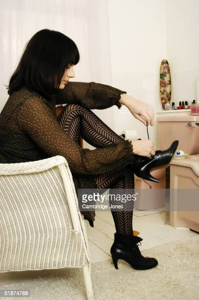 Actress Amanda Ryan poses at a photoshoot at her home in London on the 27th of November 2003