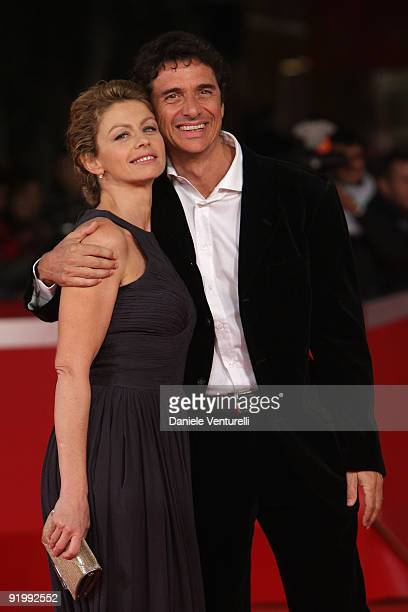Actress Amanda Sandrelli and her husband Blas RocaRey attend the Christine Cristina Premiere during day 5 of the 4th Rome International Film Festival...