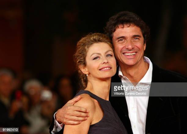 Actress Amanda Sandrelli and husband Blas RocaRey attend the 'Christine Cristina' Premiere during day 5 of the 4th Rome International Film Festival...
