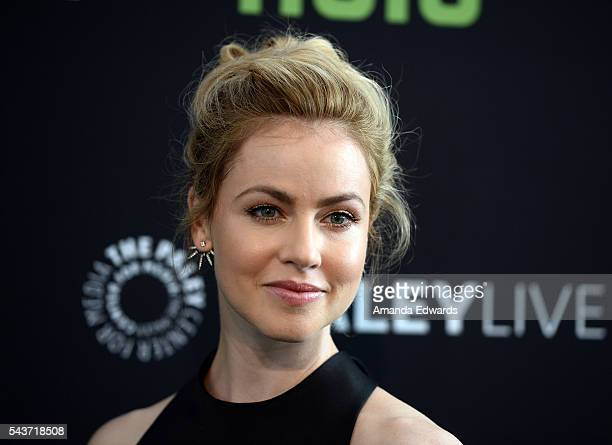 Actress Amanda Schull arrives at PaleyLive LA An Evening With 12 Monkeys at The Paley Center for Media on June 29 2016 in Beverly Hills California